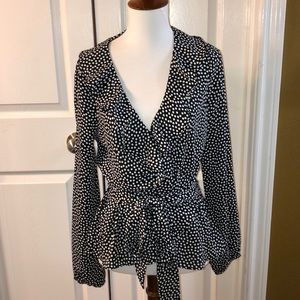 NWT Max Studio Wrap top
